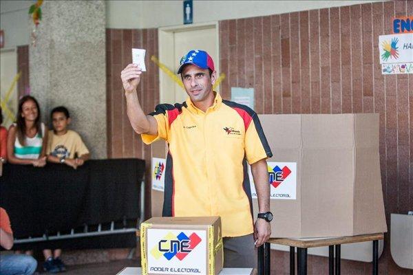 capriles voto