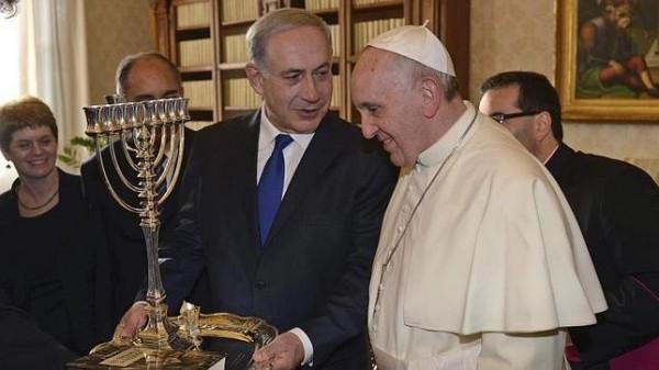 Netanyahu y el papa Francisco.