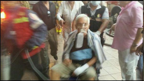 8 de diciembre de 2013. El expresidente de Barcelona, Galo Roggiero, entre los damnificados. Fue rescatado y se encuentra a salvo.