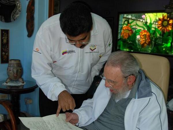 Nicolás Maduro y Fidel Castro. Foto: Archivo