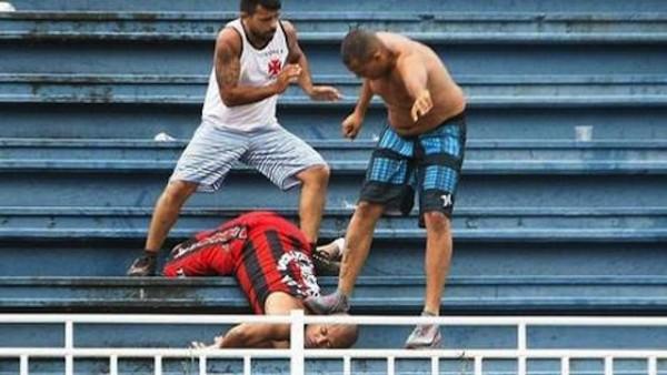 pelea estadio brasil