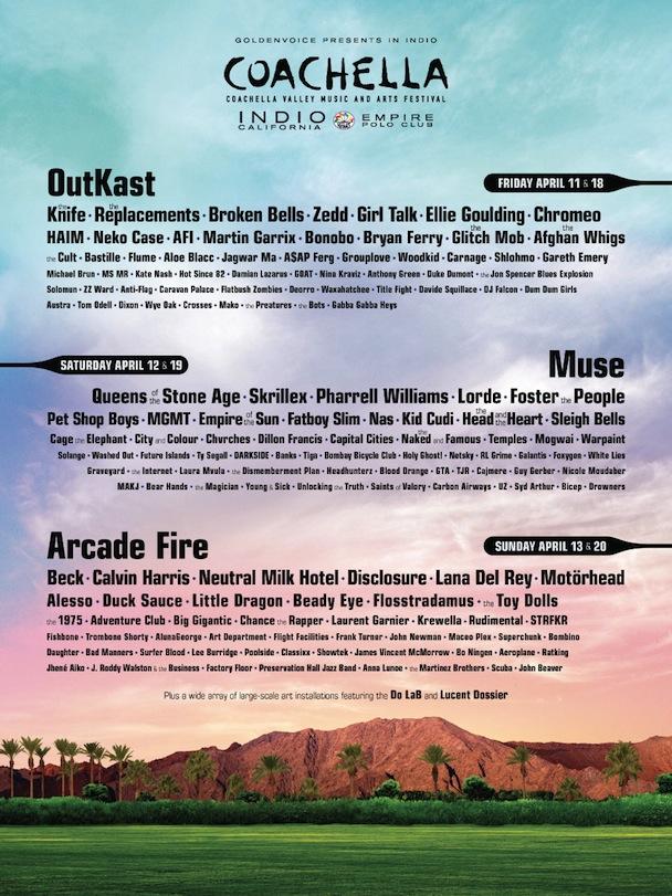 Coachella 2014 Lineup.
