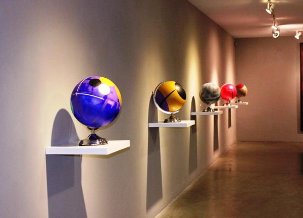 Patiño esferas en fila