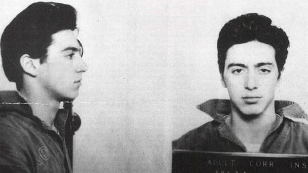 Al Pacino. Tenía 21 años cuando lo detuvieron por portar armas ilegalmente,