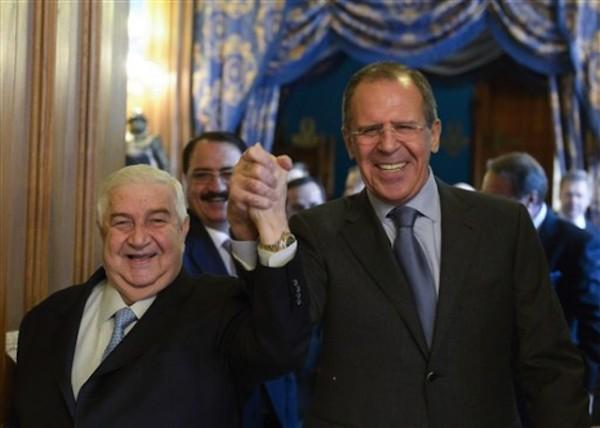 Sergey Lavrov, Walid al-Moallem