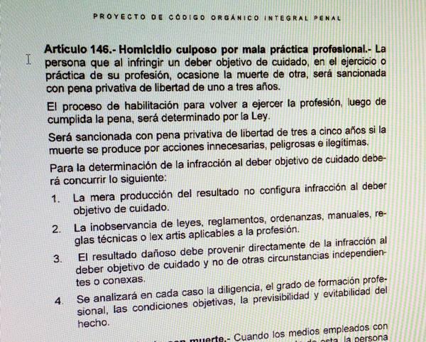 Código Integral Penal.