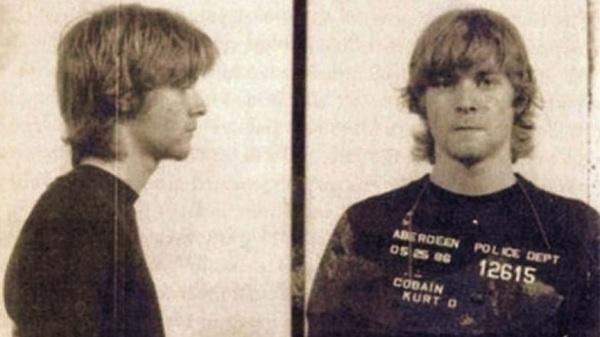 Kurt Cobain. Detenido cuando tenía 19 años por invasión de propiedad.