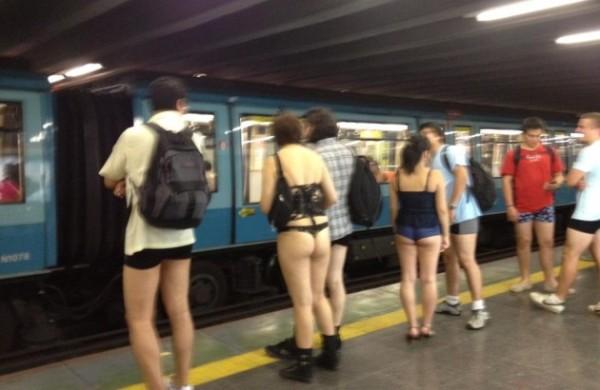 El metro, en Chile.