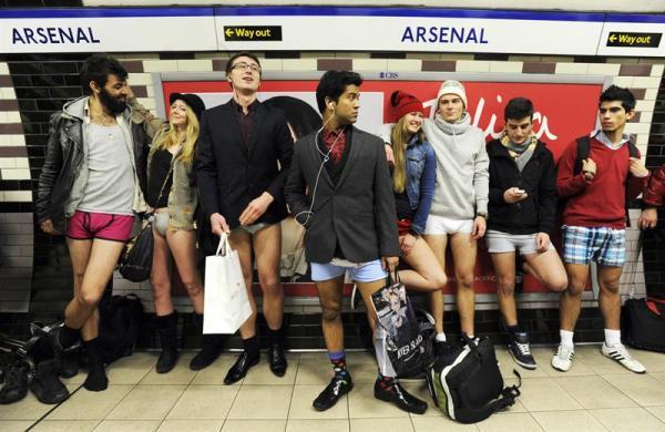 El metro, en Londres.