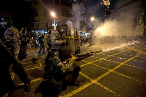 BRASIL-POLICIA ANTIMOTINES