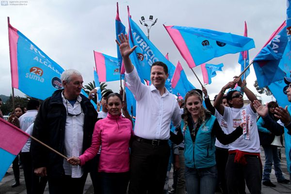 El alcalde de Quito, Mauricio Rodas, en el norte de la capital. API / JUAN CEVALLOS.