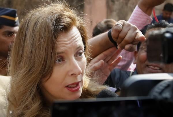 Valerie Trierweiler, exprimera dama de Francia. (AP Foto/Rajanish Kakade)