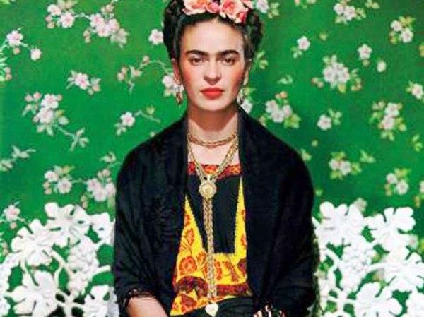Frida cuadro verde