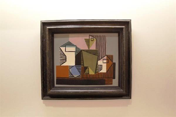 """""""Compotier, Bouteille et verre"""" (1922), obra del artista malagueño Pablo Picasso,"""