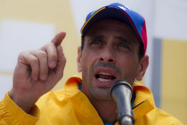 Henrique Capriles, líder de la oposición venezolana. Foto de Archivo, La República.