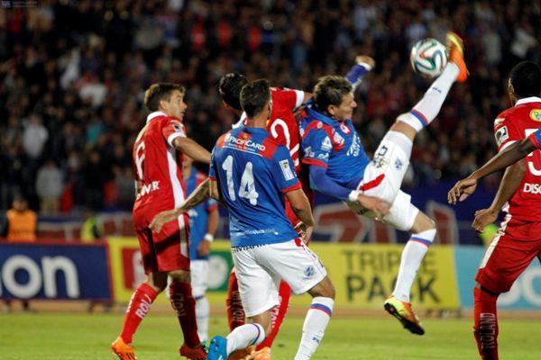 QUITO 21 DE FEBRERO DE 2014, En el estadio Olímpico Atahualpa Deportivo Quito recibe a la Liga Universitaria de Quito FOTO API / JAVIER CAZAR