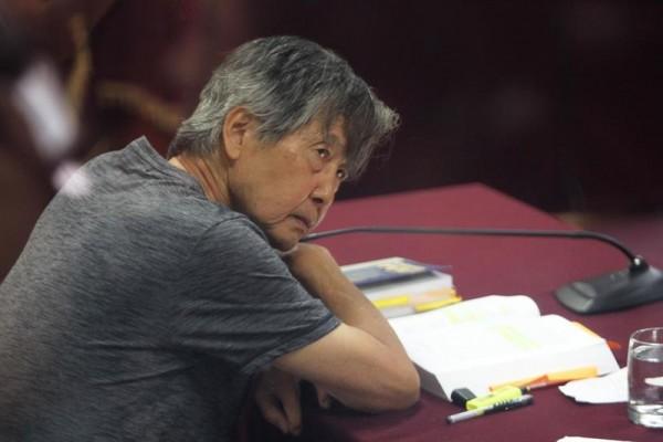 Fujimori durante una audiencia. Foto: EFE