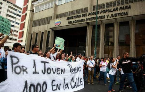 marcha estudiantes venezuela
