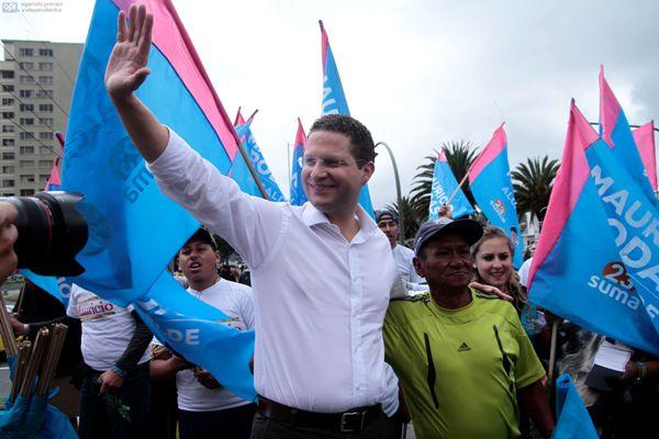 QUITO  7 DE ENERO DEL 2014. Rodas empiza su campaña electoral. FOTOS API / JUAN CEVALLOS.