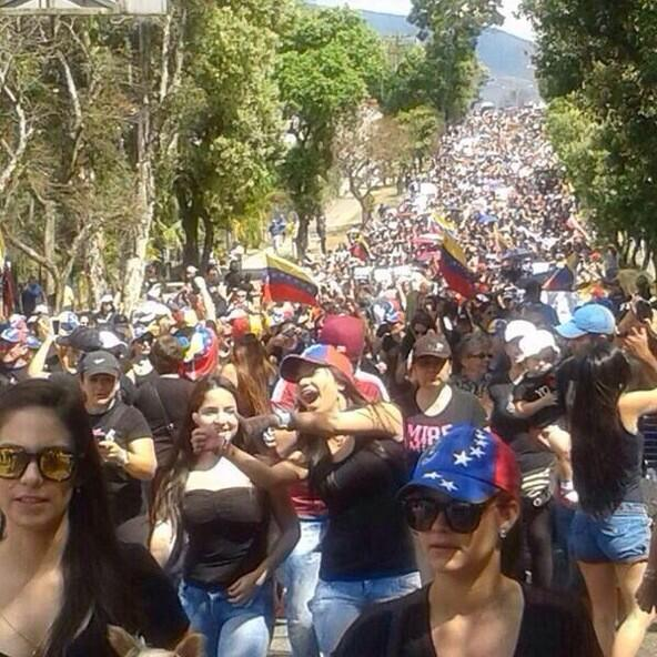 Foto tuiteada la mañana del domingo 9 de febrero de 2014, en San Cristóbal, Táchira, Venezuela.