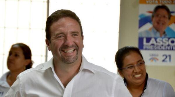 El excandidato a la prefectura del Guayas por CREO, César Monge.