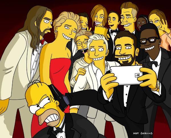 Selfie de los Simpsons. Foto de Archivo, La República.