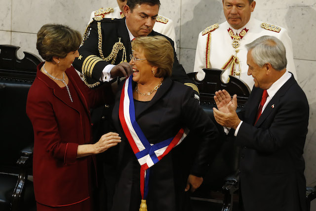 Isabel Allende , Michelle Bachelet ,Sebastian Pinera