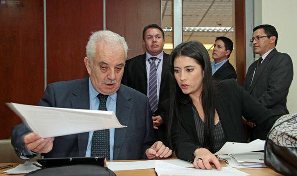 QUITO 24 DE MARZO DEL 2014. En la Corte Nacional de Justicia se llevo a cabo la Audiencia de Formulacion de Caros por el presunto delito de peculadop en el Caso Duzac. FOTOS API / JUAN CEVALLOS.
