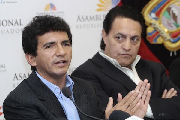ARCHIVO: Rueda de prensa del asambleísta Cléver Jiménez. FOTOS API/JUAN CEVALLOS.