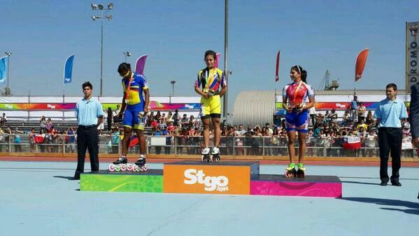 Oro en los 300 metros contrarreloj de patinaje de velocidad de los X Juegos Odesur de Santiago.