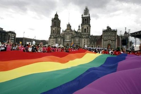 Protesta por el matrimonio igualitario en México. Foto de Archivo, La República.