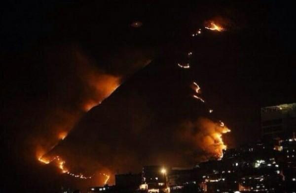 incendio forestal caracas