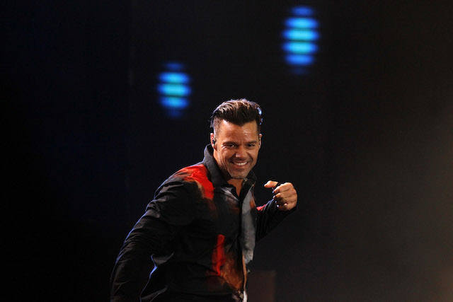 Ricky Martin durante su concierto en el Festival Internacional de la Canción de Viña del Mar en Viña del Mar, Chile, el domingo 23 de febrero de 2014. (Foto AP/Luis Hidalgo)