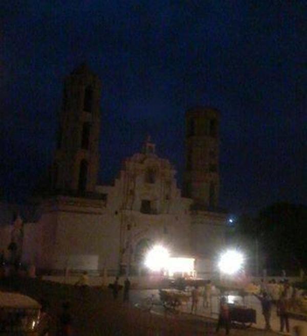 Reportan se desploma cúpula de la iglesia de Sechura- #Piura tras el fuerte sismo M6.3 en Perú. Vía @spaijd11