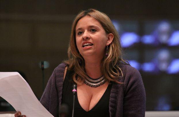 Asambleísta Betty Carrillo, presidenta de la Comisión de Derechos de los Trabajadores de la Asamblea Nacional. Foto de Archivo, La República.