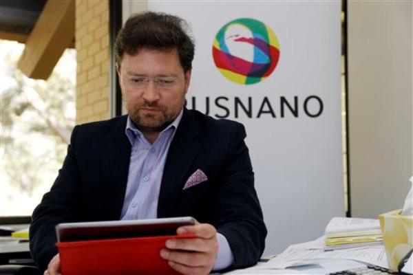 Dmitry Akhanov, presidente de la filial en Estados Unidos de la empresa estatal rusa  RUSNANO, en su oficina el miércoles 9 de abril del 2014, en Menlo Park, California. (Foto AP/Marcio José Sáchez)