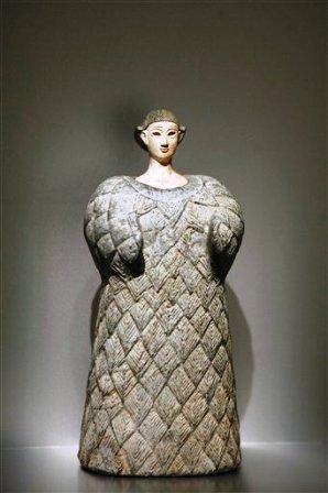 """La estatuilla """"Princesa de Bactria"""", de fines de siglo III, comienzos de siglo II a.C."""