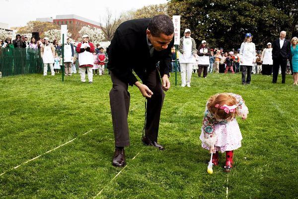 Obama niña easter
