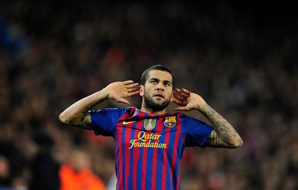 Foto de archivo. Dani Alves, jugador del FC Barcelona. Foto AP.