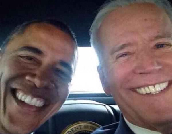 Selfie del presidente Obama y el vicepresidente Biden. Foto de Archivo, La República.