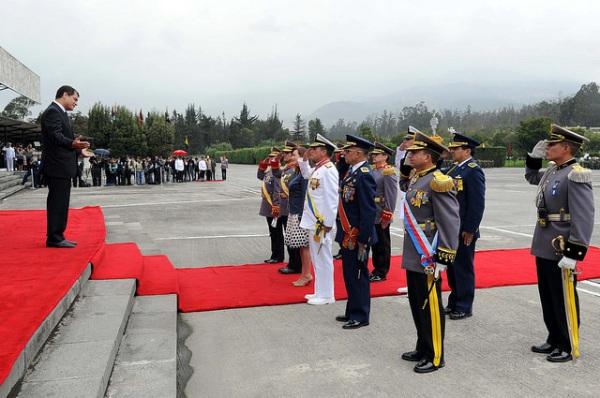 Alto mando de las Fuerzas Armadas. Foto de Archivo, La República.