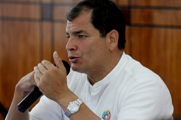 Rafael Correa, presidente de la República del Ecuador. Foto de Archivo, La República.