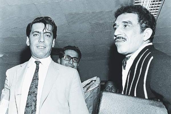 Gabriel García Márquez y Mario Vargas Llosa, escritores latinoamericanos. Foto de Archivo, La República.