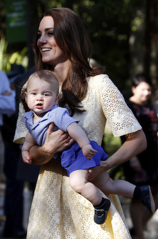 Kate, the Duchess of Cambridge,  Prince George