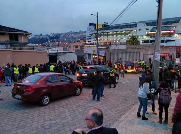 Afueras del estadio de Liga de Quito