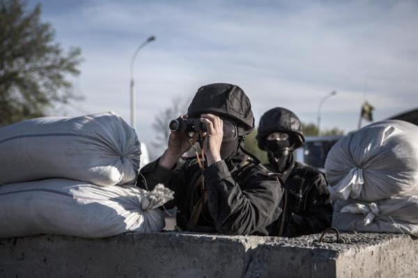 Tropas ucranianas en la frontera de Donetsk, Foto: EFE