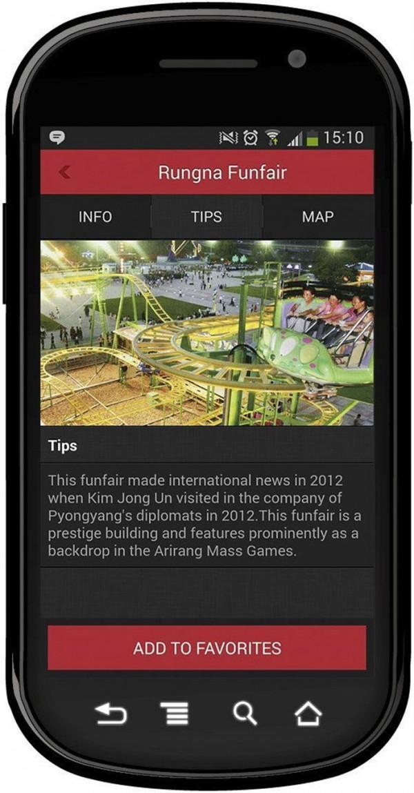 """Fotografía facilitada por Uniquely de la nueva aplicación que permite desde hoy por primera vez realizar turismo virtual con un """"smartphone"""" en Corea del Norte a través de fotografías, información y rutas por el país más hermético del planeta. EFE"""