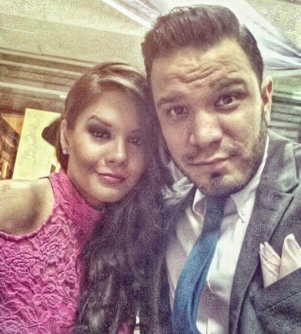 Denisse Ruiz y Leonardo Moreira. Tomada de la cuenta de Twitter: @elchinomoreira