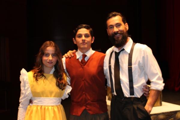 Ariane Tavernier, Sebastián Perdomo y Jaime Tamariz