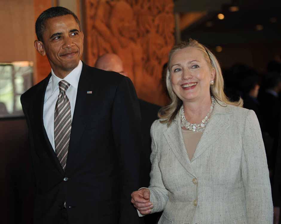 El presidente Barack Obama y la entonces Secretaria de Estado Hillary Clinton, en una foto de archivo.